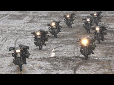 第1偵察隊によるオートバイドリル 平成29年度 第1師団創立55周年・練馬駐屯地創立66周年記念行事