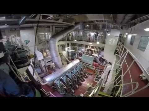 FSO CRUDE OIL TANKER - TOUR OF ENGINE ROOM