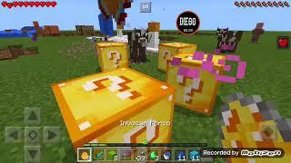 Batalha Lucky Block PVP Episódio 1