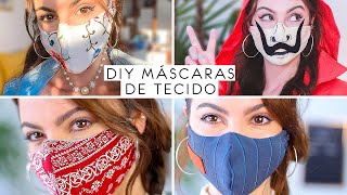 Faça em Casa 4 Estilos de Mascara de Tecido