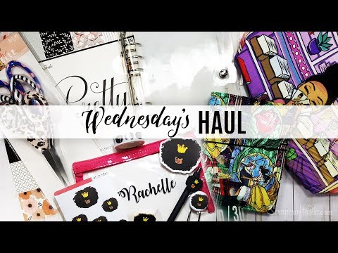 Wednesday's Haul 12.26.2018 - Craft & Planner Supplies Hobby Lobby, Walmart and planner shops