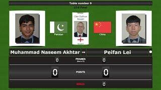 Snooker U18 Final : Muhammad Naseem Akhtar vs Peifan Lei