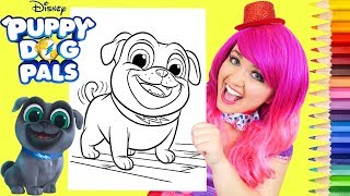 Coloring Puppy Dog Pals Bingo Coloring Book Page Prismacolor Pencils | KiMMi THE CLOWN