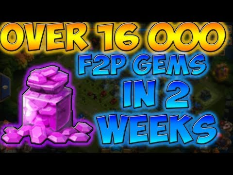 How To Get Over 16k F2P Gems In Castle Clash