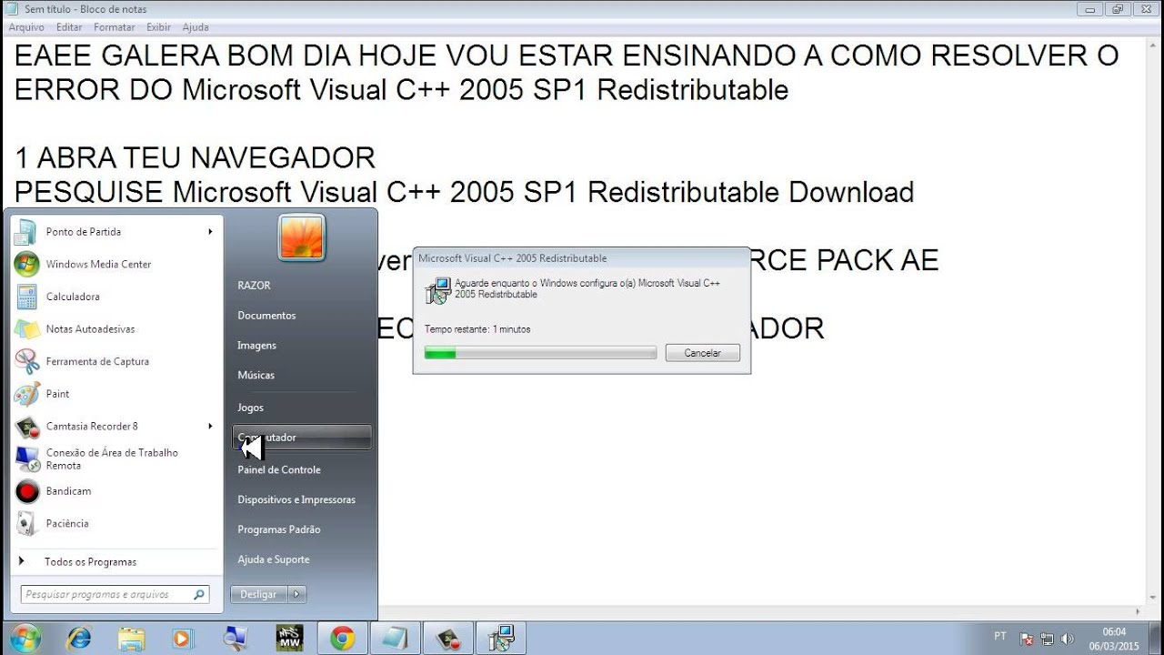 GRATUIT VISUAL REDISTRIBUTABLE 2005 (X86 PACKAGE C MICROSOFT TÉLÉCHARGER SP1