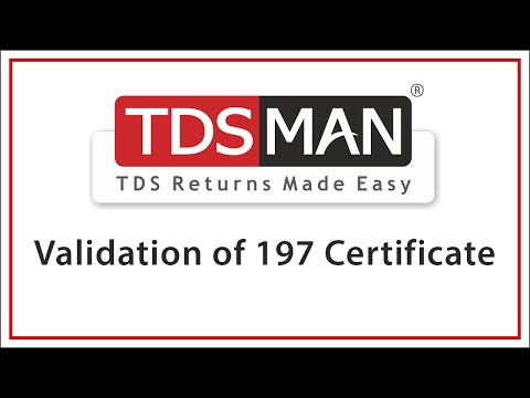 Validation Of 197 Certificate