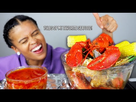 15lbs of MY FAVORITES (SEAFOOD BOIL MUKBANG ft. king crab, lobster, dungeness, mussels...)