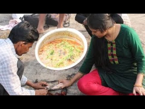 Beautiful Girl Cooking Murrel Fish Curry in Jungle | Live Fishing Country food in my Villa