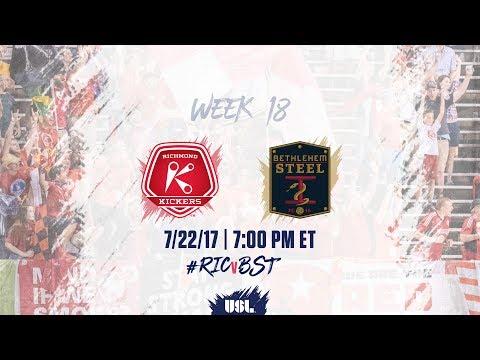 USL LIVE - Richmond Kickers vs Bethlehem Steel FC 7/22/17