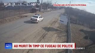 Accidentul in care au murit doi tineri din Buzau, care fugeau de politie, a fost filmat