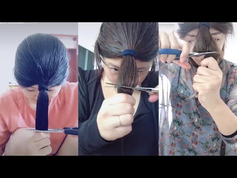 [抖音] Hot Trend Cut Hair On Tik Tok China | Hot Trend Tik Tok China