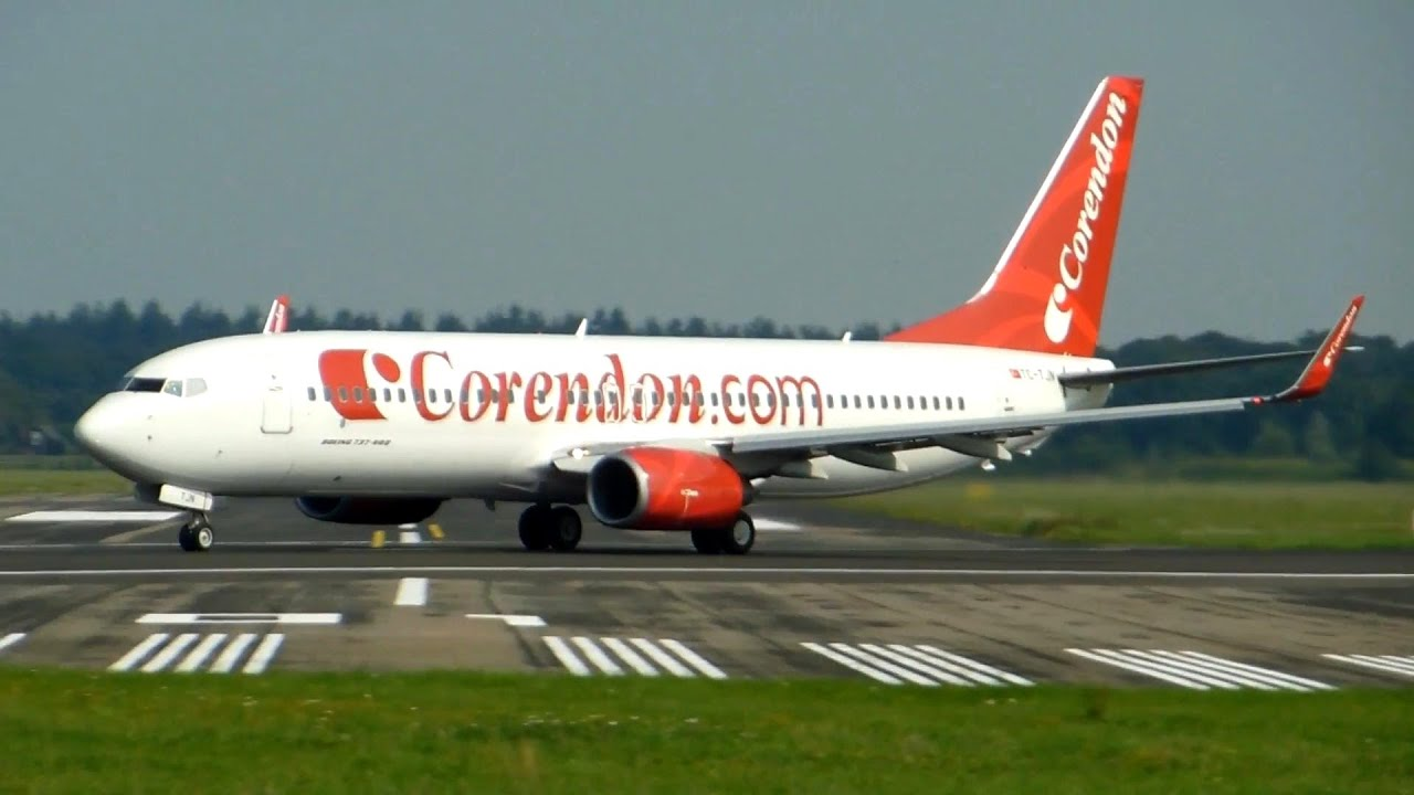 Corendon Airlines Boeing 737-800 Takeoff Groningen Airport ...