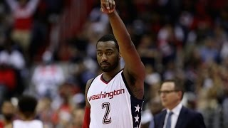 John Wall and Bradley Beal Lead The Wizards Past The Hawks in Game 5  | April 26, 2017