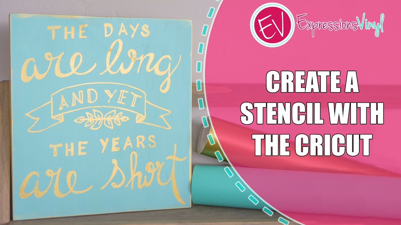 Use The Cricut To Create A Stencil and Hand Painted Sign   YouTube