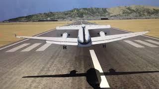 Beechcraft King Air Landing 2 FSX