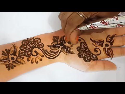 करवाचौथ स्पेशल  मेहँदी - चम्मच से लगाएं मेहँदी ! Latest New Mehndi for Hands | BeautyZing