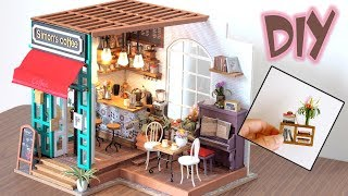 DIY Miniature Dollhouse Kit || The Coffee House - Miniature Land