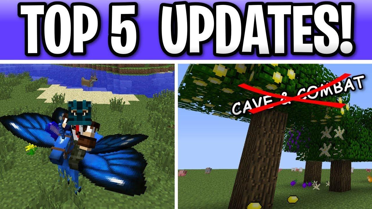 Minecraft TOP 5 Updates Besides CAVE & COMBAT! 1 15/ 1 16
