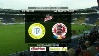 Czech Republic Gambrinus League - FK Teplice vs Sparta Prague ( 02.05.2011 )