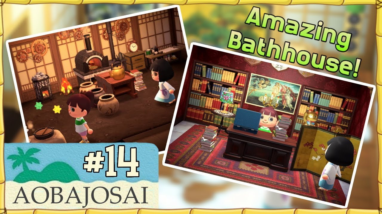 Spirited Away Themed Island Animal Crossing New Horizons Island Tour 14 Aobajosai Youtube