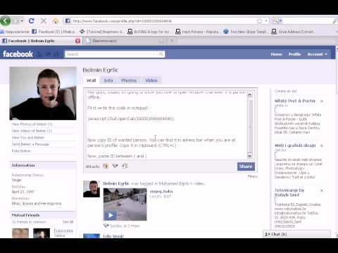 How to see FaceBook chat history even if is person offline [New code]