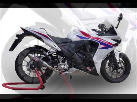 honda cbr 500 r 2013 scarico gpr video catalogo gpr video. Black Bedroom Furniture Sets. Home Design Ideas