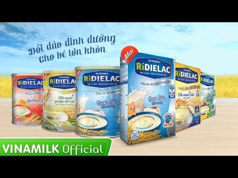 Quảng cáo Vinamilk – Bột ăn dặm RiDIELAC 4 gói – 4 vị mặn
