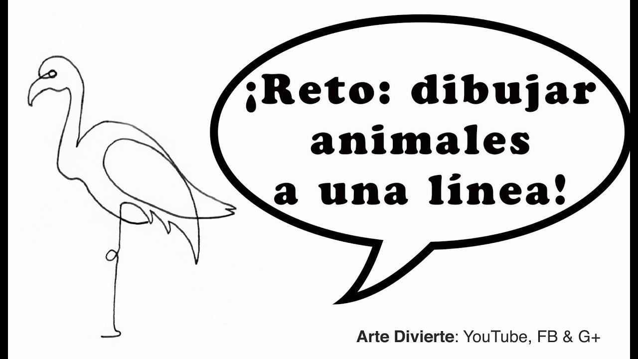 Reto Dibujando Animales Con Una Sola Línea