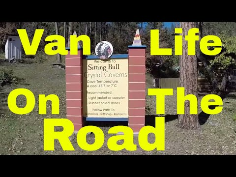 Sitting Bull Crystal Caverns Cave Near MT Rushmore Van Life on The Road