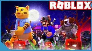 UNCLE VS NEPHEW - ROBLOX TRICK OR TREAT OBBY **SCARY**