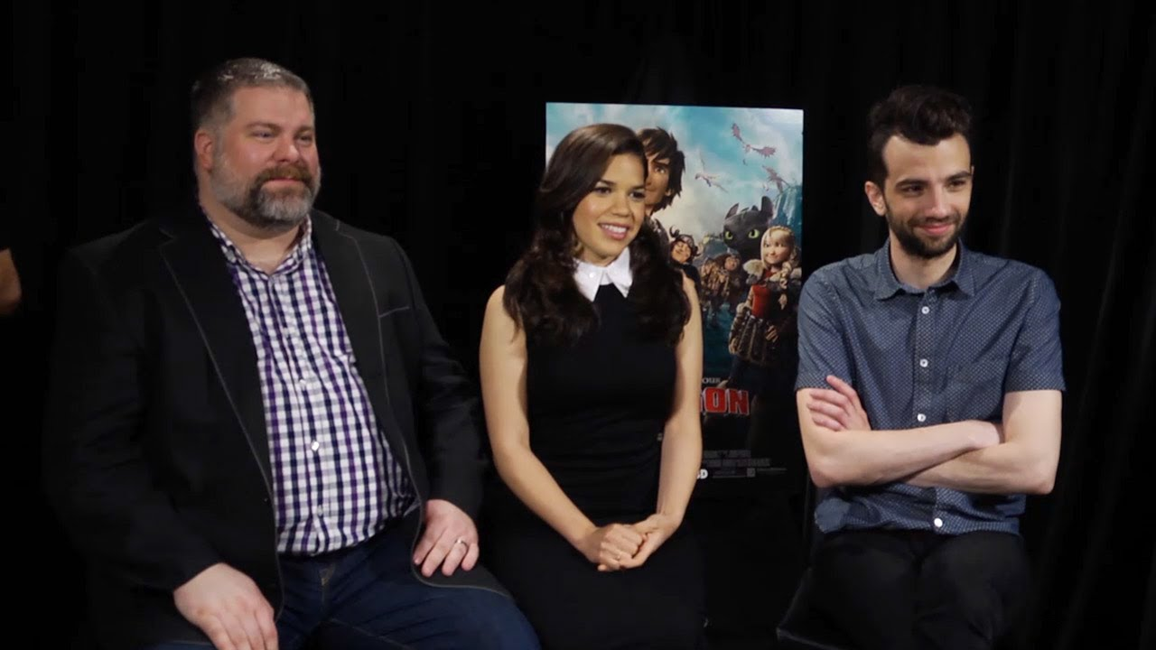 Jay Baruchel & America Ferrera  How To Train Your Dragon 2 Interview Hd   Youtube