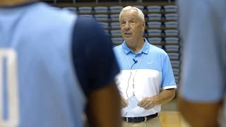Carolina Basketball: Coach Williams Mic'd Up 1st Practice - Part 1