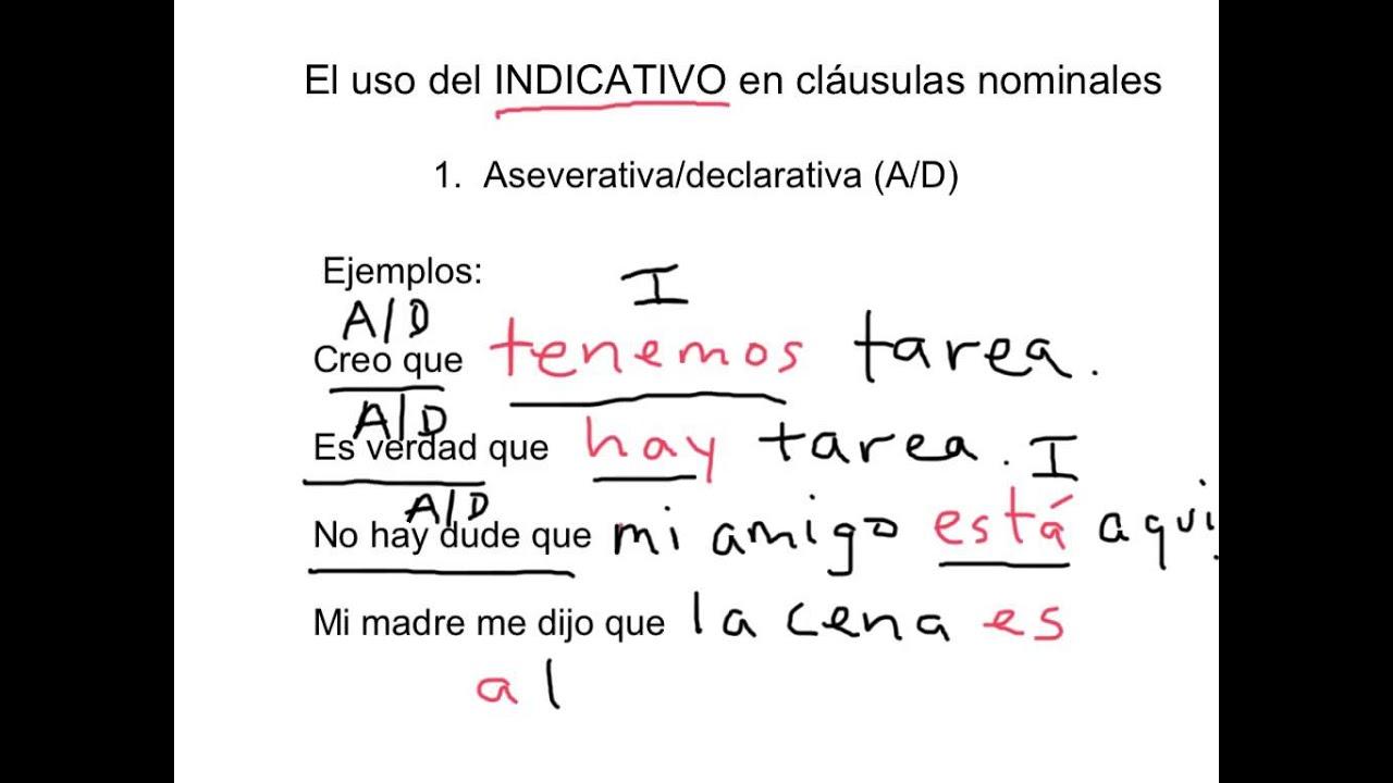 El Subjuntivo Cláusulas Nominales