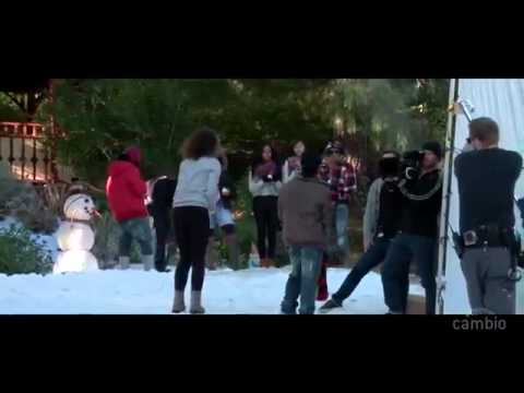 Mindless Behavior Behind the Scenes of Christmas With My Girl Video.