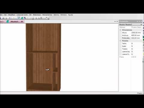 Spazio3d es el software cad cam para mobiliario doovi for Software para diseno de muebles y optimizacion de corte gratis