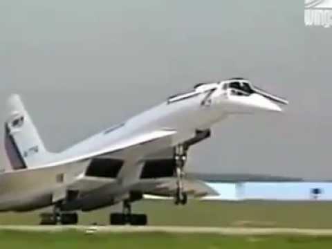 Ту-144 в наши дни, экспериментальный полет - YouTube