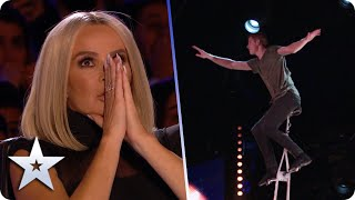 OMG! UNICYCLIST Wesley Williams' act keeps getting BIGGER and BETTER! | BGT 2020