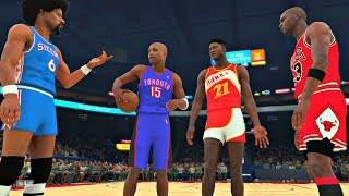 NBA 2K18: The Greatest Dunk Contest of All Time! Jordan, Carter, Wilkins, Erving! #PS4