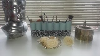 Diy: Toilet Paper Roll To Make Up Brush Holder!
