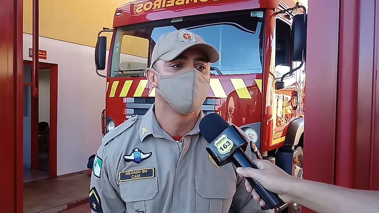Bombeiros agem rápido e evitam que casa seja destruída por incêndio em Capanema