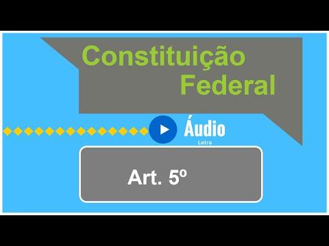 Áudio e Letra da Constituição Federal   Artigo 5º