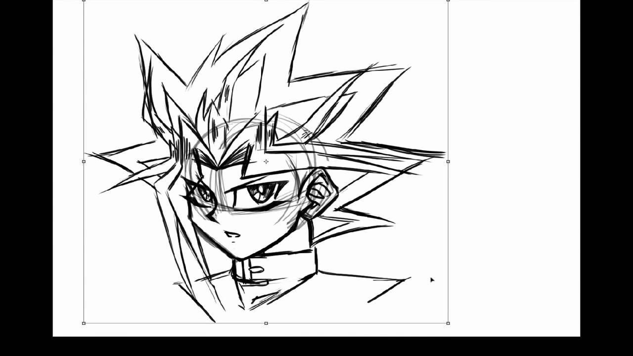 How to Draw Yami Yugi (Yami no Yuugi) - YouTube
