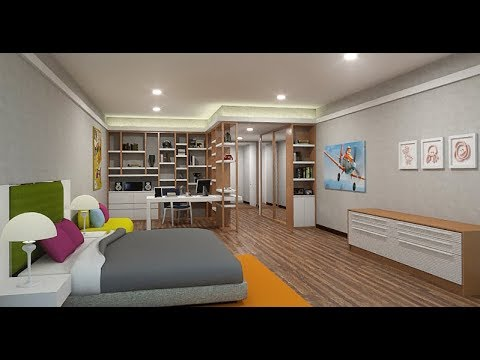 Sketchup Kid S Bedroom Design Vray 3 4 Youtube