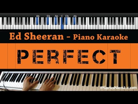 Ed Sheeran - Perfect - Piano Karaoke  Sing Along  Cover with