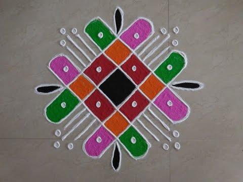 Dot's Rangoli Design 4 by 4