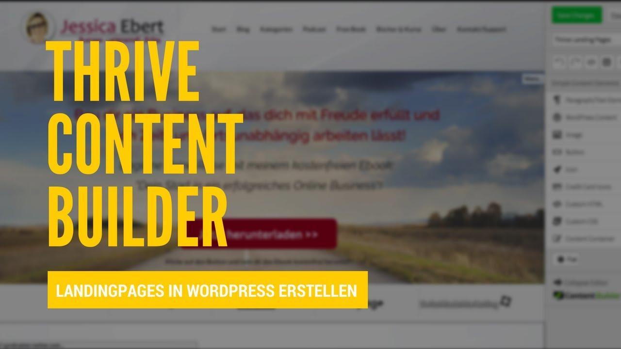 Thrive Content Builder - Schöne LandingPages in Wordpress ...