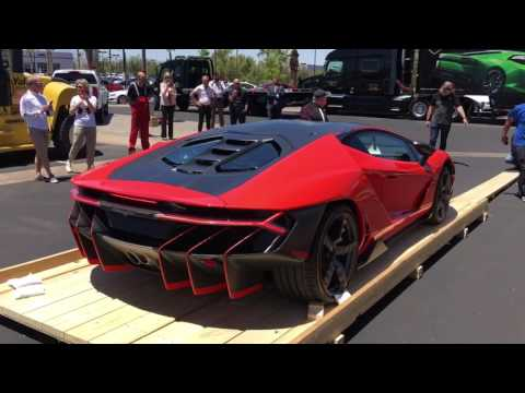 Lamborghini Centenario First Start And Exhaust Youtube