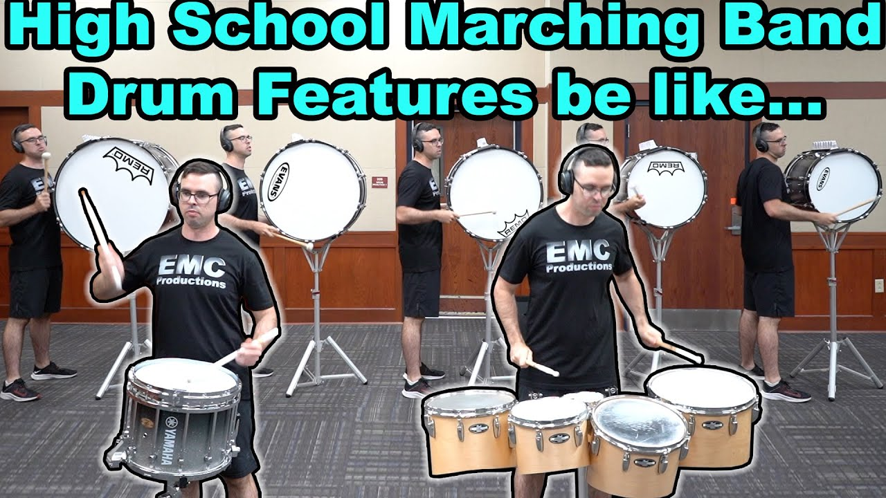10 Kinds of Drum Features in High School Marching Band