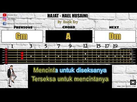 Hajat - Hael Husaini [ Minus One Karaoke + Guitar Chord With Tabs ]