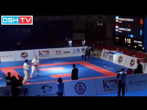 FINAL - Horuna (Ukraine) Vs Enes (Croatia) - Shanghai China Karate 1 Series A